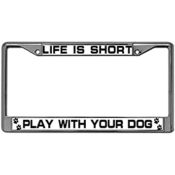 Exterior Accessories Aluminum Alloy US License Plate Frame Pack License Plate Frame Save Water Save Life Slogans License Plate Chrome Frame for US Standard