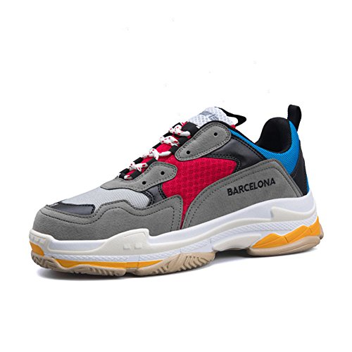 Btrada Ultra Llight Sneaker Casual Chaussures Amoureux Styles Chaussures De Course Respirant Confortable Bleu / Rouge