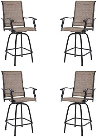 Best outdoor bar stool: Outdoor Swivel Bar Stools All-Weather Counter Height Tall Patio Chair