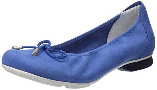 sabrinas City, Bailarinas con Punta Cerrada Para Mujer Azul (Blue 002)