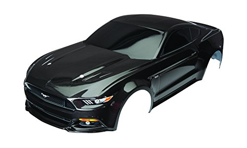 Traxxas Black Painted Ford Mustang GT Body (1:10 Scale) (4 Tec Body)