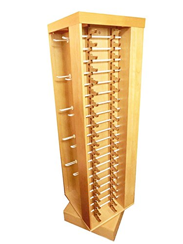Wooden Rotatable Store Display Rack for Retail Stores Commercial General Merchandise , Winter Accessories , Glasses and more ( Durable Floor Tower Displays Racks with locks ) (Sticker Display Rack compare prices)