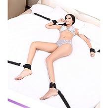 Debajo del sistema de sujeción de la esclavitud de la cama con los puños de la mano, la colección de la esclavitud del tobillo de la manguito para la pareja de la mujer masculina-Enviado por DHL y usted puede conseguir las mercancías en 5-7 días