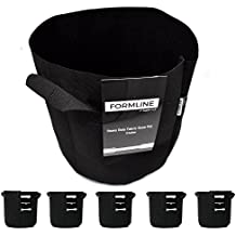 Premium 3 Gallon Grow Bags [Pack of 5] by Formline Supply. Fabric Flower Pots are the Smart Way to Garden. Add these Heavy Duty Planters to your Grow Tent Kit or Hydroponic System to Increase Yields.