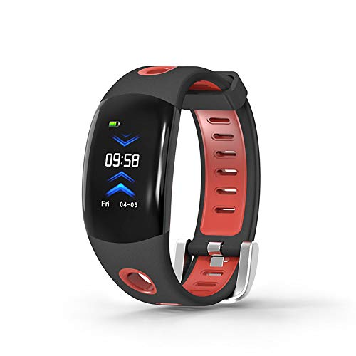 Kariwell 0.96'' IPS Screen Sport Bracelet - Mileage Calorie Continuous Heart Rate Monitoring Stopwatch Waterproof Bluetooth Smart Watch Kari-144 (Red) ()