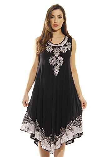 Riviera Sun Dress / Dresses for Women,Black / White,3X