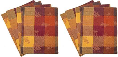 Kovot Autumn Leaves Table Decor with Foil Accents (Placemats (8)