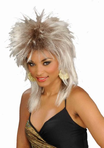 [Forum Novelties Women's 80's To The Maxx Rocking Queen Costume Wig, White Blond, One Size] (Tina Turner Wigs)