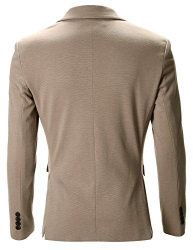 Premium Casual Beige Giacche Slim Fit Blazer Flatseven Uomo fqOwp1q