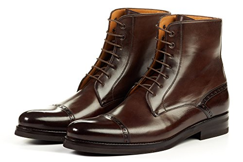 - The Presley Lace-up Boot - Chocolate - Rubber Sole