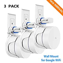 3 Pack Wall Mount for Google WiFi System Without Mess Wires Or Screws, White