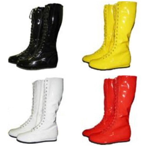 Adult Pro Wrestling Boots Choose Color WWF WWE Hulk Hogan Costume Super Hero