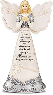Elements Sympathy Angel Figurine by Pavilion, 8-Inch, If Tears Could Build a Stairway and Memories a Lane
