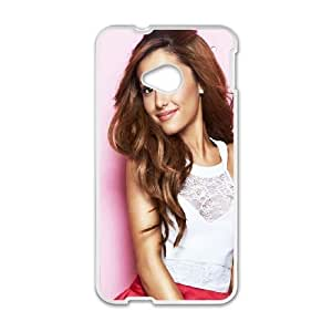 HTC One M7 Cell Phone Case White Ariana Grande ZSG Protective Durable Case