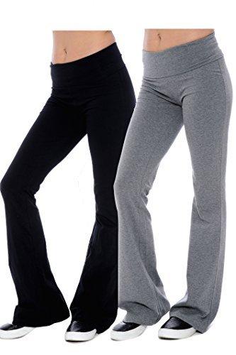 Unique Styles PANTS レディース B01BUDY5BA L|2 Grey & 1 Black 2 Grey & 1 Black L