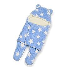 Baby Boys' Swaddle Blanket Sleeping Bag Fleece Seperated Legs Sleepwear Blue 3-12months