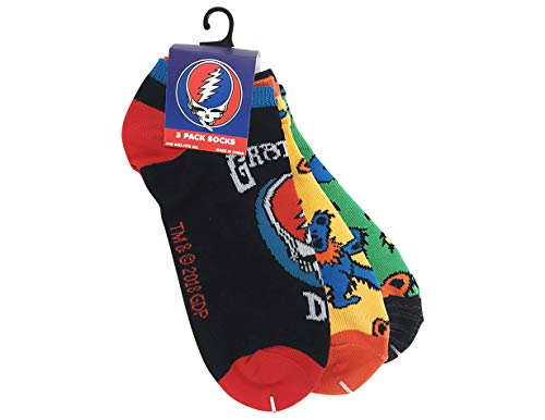 Ripple Junction Grateful Dead 3-Pack SYF and Pattern Socks One Size Multicoloured