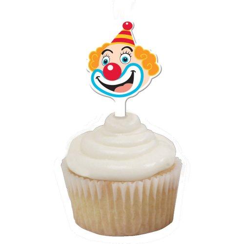 Circus Clown Cupcake Topper Face
