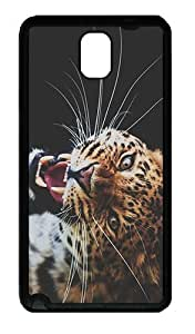 Galaxy Note 3 Case, Note 3 Cases - Leopard Roaring Soft Rubber Bumper Case for Samsung Galaxy Note 3 N9000 TPU Black