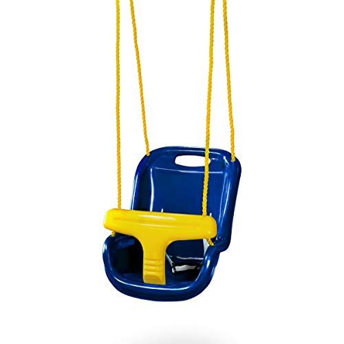 Gorilla Playsets High Back Infant Swing, Blue
