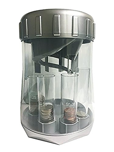 Automatic Coin Sorter and Electronic Coin Counter - Digitally Keeps Count of and Auto Sorts U.S. Quarters, Dimes, Nickels and Pennies into Individual Tubes (Automatic Cash Machine compare prices)