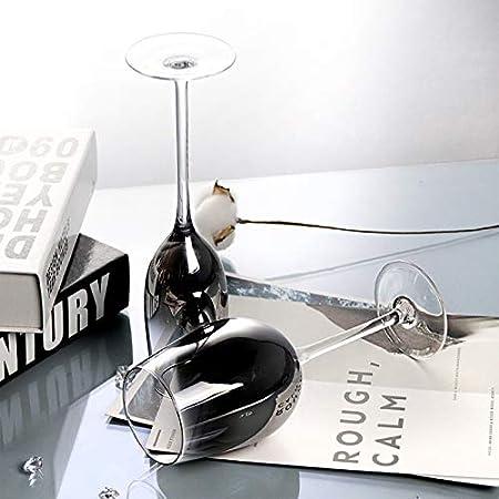 RNNTK Flauta De Champán Gris Plata Degradado Copa Copa De Vino Tinto,Electrochapado Cristal Vidrio Superficie Suave Y Electrochapado Uniforme,Boda,Aniversario,Navidad Vidrio-B 250ml