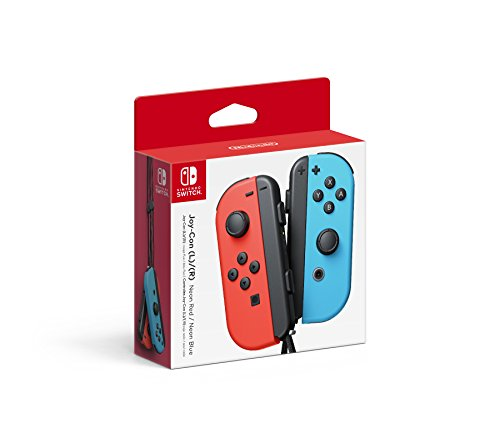 Video Games : Nintendo Joy-Con (L/R) - Neon Red/Neon Blue