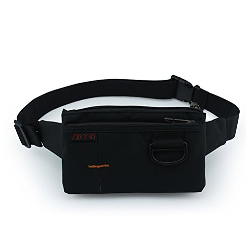 White Cloud Slim Sport Polyester Stealth Small Running Travel Waist Bag With D Clip - Waist Bag Polyester