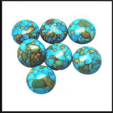 Calvas Nature Blue howlite Stone Nice Beads for Fashion Bracelet Beads cabochon Size 18mm,20mm Coin Shape - (Color: 20mm 10pcs)