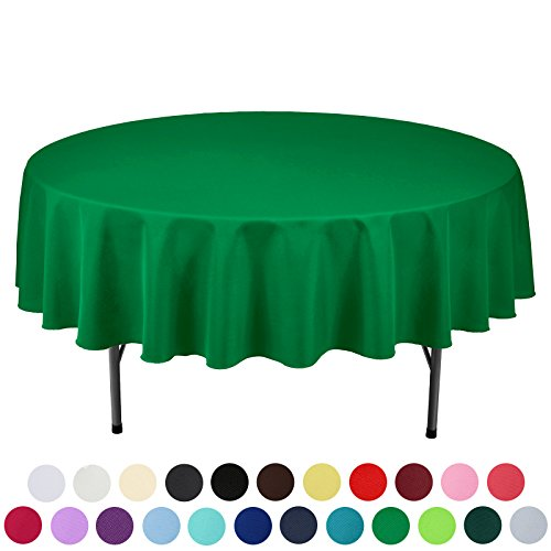 VEEYOO 90 inch Round Solid Polyester Tablecloth for Wedding Restaurant Party, - Inch Polyester Tablecloth Square 90