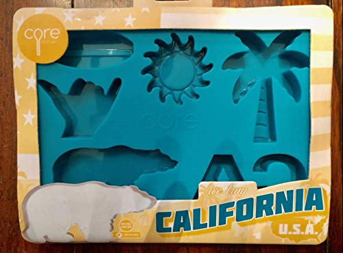 CALIFORNIA SURFBOARD PALM TREE BEAR SUN SILICONE CANDY CHOCOLATE MOLD ICE TRAY