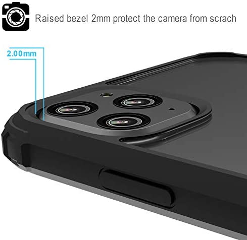 Restoo iPhone 11 Pro Case,Protective Clear Case with [Kickstand Ring] [Soft Shock Absorbing Bumper] for iPhone 11 Pro 5.8 inch,Black