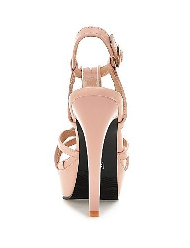 ShangYi Women's Shoes Leatherette Stiletto Heel Heels Sandals Casual Black / Pink / White Pink OzA18lWK