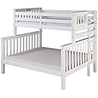 Camaflexi Santa Fe Mission Tall Bunk Bed End Ladder, Twin over Full, White