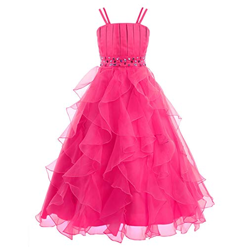 Cdress Organza Flower Girls Dresses Beads First Communion Dress Wedding Party Gowns Ruffles Tiers US 12 -