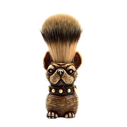 Loneflash Badger Hair Shave,Dog Men Shaving Bear Brush with Heavy Wood Base and Ergonomic Handle for Any Methods of Shaving