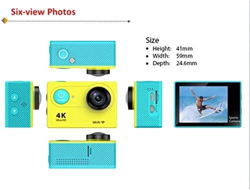 H9スポーツDvの4KスポーツカメラWiFi 1080Pダイビング屋外防水ミニダイバー、カラー:ブラック (Color : Yellow)