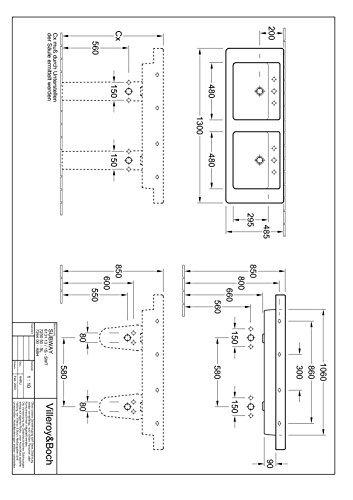 Villeroy Boch Schrank Doppelwaschtisch Omnia Architectura 613113