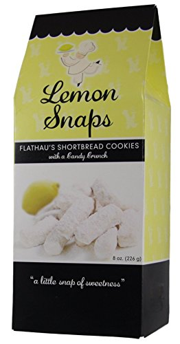 Flathau's Fine Foods Lemon Cookie Snaps, 8-Ounce Boxes Pack of 2 (Lemon Snaps, Pack Of 2)