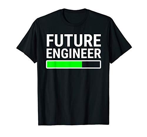 Future Engineer Loading Bar T-shirt Cool Graduation Tee Gift