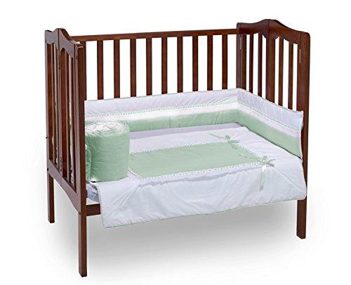 ベビードールロイヤル寝具ミニベビーベッド/ポート-ベビーベッド寝具セット、ミント   B00MAZIWT4