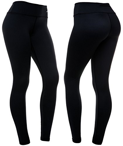 CompressionZ Women's Compression Pants (Black - L) Best Full Leggings Tights for Running, Yoga, Gym (Best Pregnancy Workout Leggings)