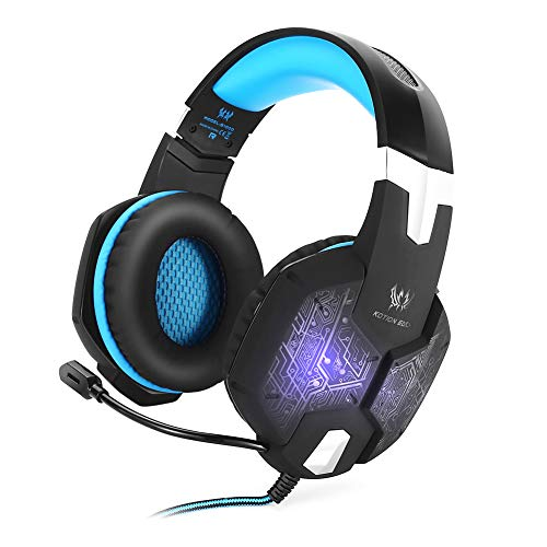 (ZKxl8ca KOTION Each G1000 Stereo Gaming Headset LED Headphones with Microphone for PC - Blue)