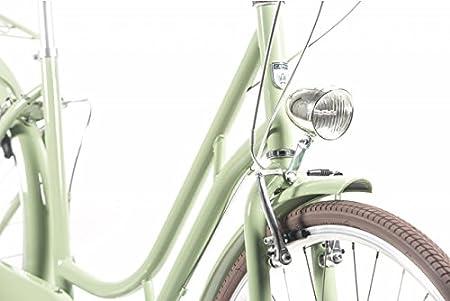 Capri Bicicleta de Paseo Berlin 6 velocidades - Verde-Marron: Amazon.es: Deportes y aire libre