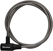 Master Lock 8154DPF Cable Lock, 6-Feet x 3/8-Inch