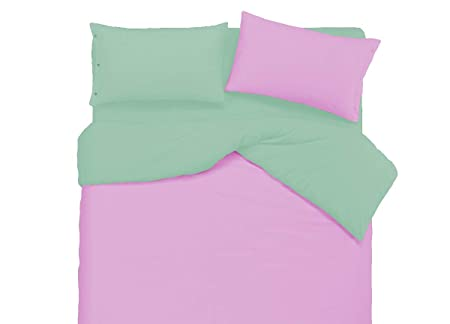 Copripiumino Verde Acido.R P Parure Copripiumino Bicolore Personalizzabile 22 Colori