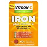 Vitron-C High Potency Iron Supplement with Vitamin C, Pack of 2 (60 Count Each) 8lgkwkc
