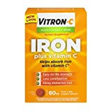 Vitron-C High Potency Iron Supplement with Vitamin C, Pack of 4 (60 Count Each) bldejw