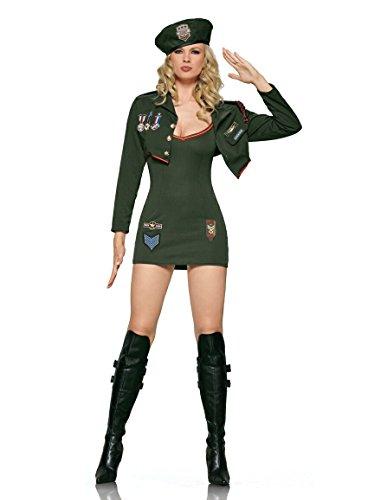 3 PC ARMY SERGEANT COSTUME-MEDIUM (Sexy Sergeant Costume)
