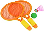 Conjunto de raquete de tênis infantil Wakauto com bola, brinquedos de raquete de tênis de plástico para crianç